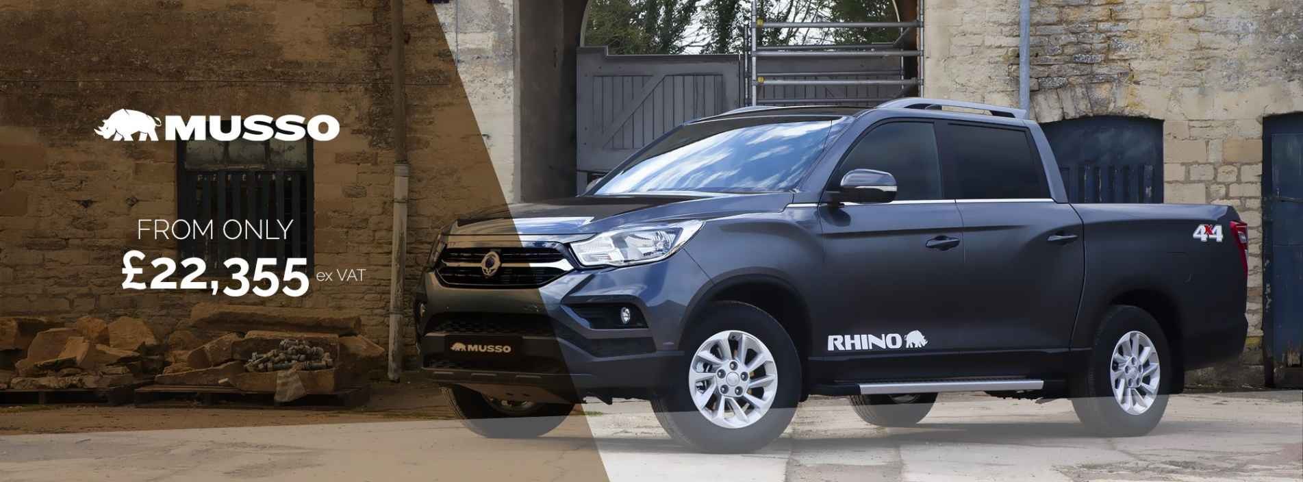 SsangYong Musso and Musso Rhino Banner